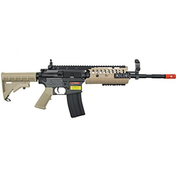 Jing Gong (JG) Airsoft Rifle 2 JG full metal gearbox desert tan aeg w/ integrated rail and high performance tight bore barrel - newest enhanced model by jg(Airsoft Gun)