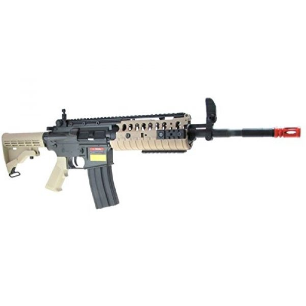 Jing Gong (JG) Airsoft Rifle 4 JG full metal gearbox desert tan aeg w/ integrated rail and high performance tight bore barrel - newest enhanced model by jg(Airsoft Gun)