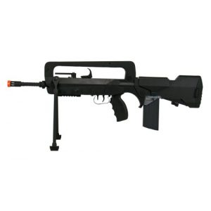 FAMAS Airsoft Rifle 1 Soft Air Famas Foreign Legion Electric Powered Airsoft Rifle with Adjustable Hop-Up, 380-420 FPS