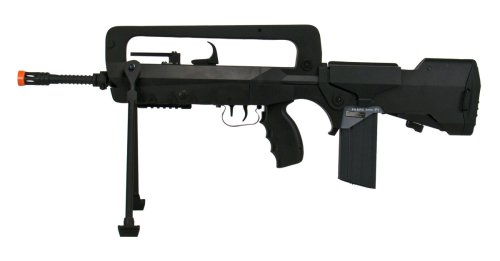 FAMAS  1 Soft Air Famas Foreign Legion Electric Powered Airsoft Rifle with Adjustable Hop-Up