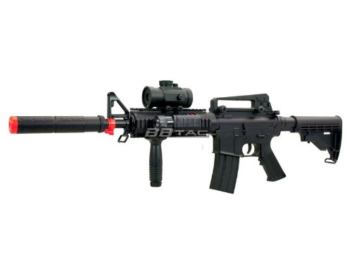 BBTac  2 BBTac M83 Full and Semi Automatic Electric Powered Airsoft Gun Full Tactical Accessories Ready to Play Package