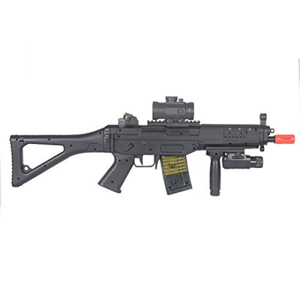 BBTac Airsoft Rifle 6 BBTac Double Eagle Airsoft Gun AEG Electric Rifle Full Auto Great Starter with Premium Airsoft Carrying Sling