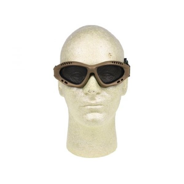 PForce Airsoft Goggle 2 Airsoft Adjustable Mesh Wire Goggles - Tan