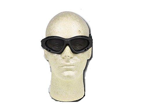 Prima USA Airsoft Goggle 2 Airsoft Adjustable Mesh Wire Goggles Black