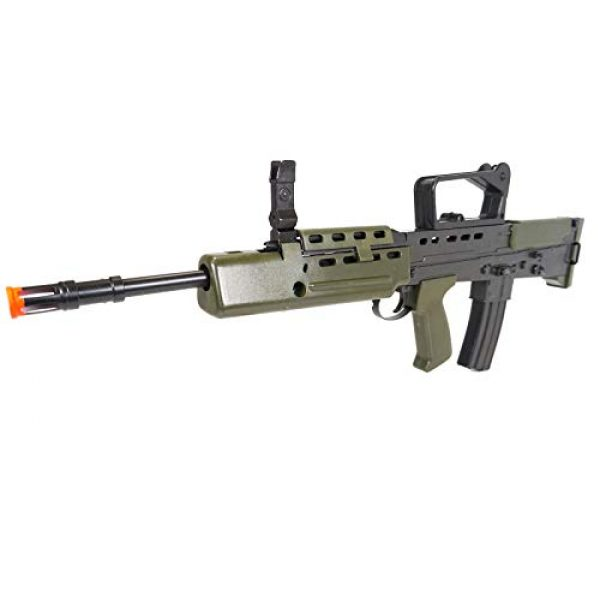 HFC Airsoft Rifle 5 HFC Airsoft Spring Tactical Rifle British Army SA80 Full Size 320FPS Bolt Action with Rail