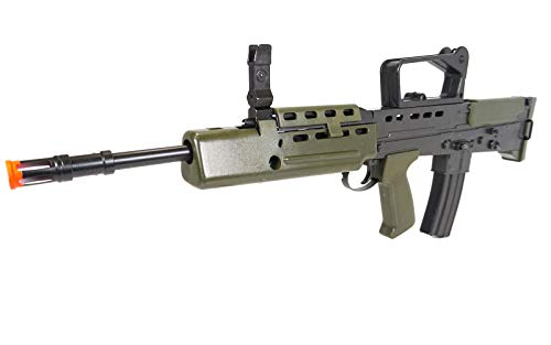 HFC  5 HFC Airsoft Spring Tactical Rifle British Army SA80 Full Size 320FPS Bolt Action with Rail