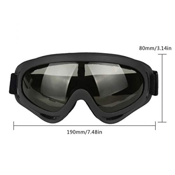 Tactical Eyewear Anti-Slip UV Protection for Paintball