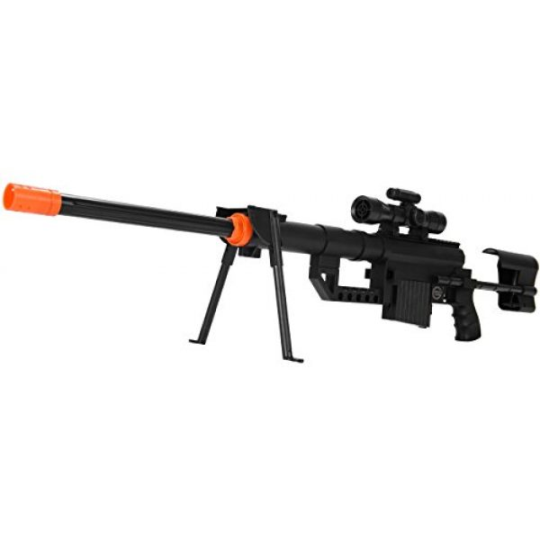 UKARMS Airsoft Rifle 3 UKARMS P1200 M200 Airsoft Sniper Rifle (Black) FPS 330