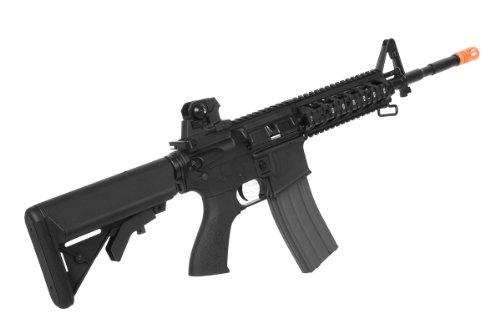 G&G  5 G&G airsoft combat machine m4 raider high-performance full metal gearbox aeg rifle w/ integrated ras and crane stock(Airsoft Gun)