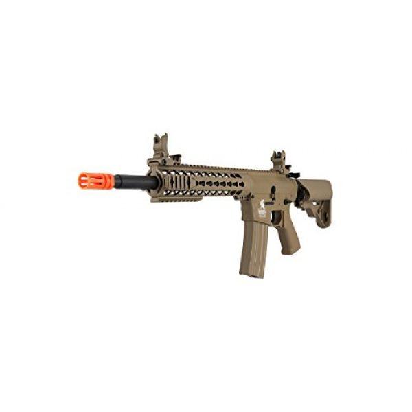 Lancer Tactical Airsoft Rifle 3 Lancer Tactical GEN 2 M4 Custom Body AEG Metal Gear Electric Airsoft Rifle - TAN