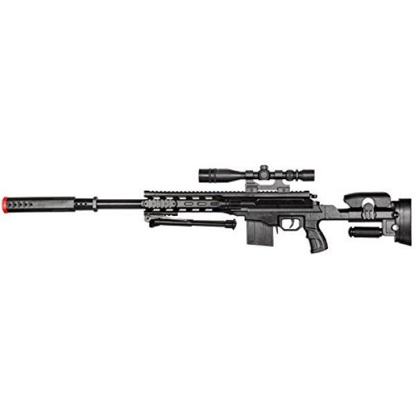 BBTac Airsoft Rifle 3 BBTac Airsoft Sniper Gun Package - Powerful Spring Sniper Rifle, Shotgun, 6mm BB Pellets, Great Starter Pack