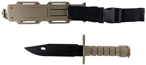 SportPro Airsoft Tool 2 SportPro Rubber Combat Knife M9 Style for Training Airsoft Dark Earth