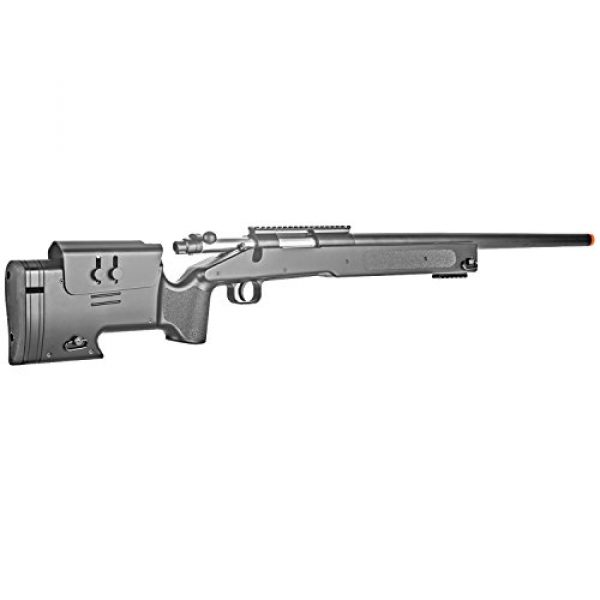 BBTac Airsoft Rifle 4 BBTac Airsoft Sniper Rifle M62 - Bolt Action Powerful Spring Airsoft Gun, Extreme Powerful FPS with .20g 6mm BBS