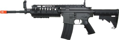 jg m4a1 s-system aeg electric airsoft gun - black(Airsoft Gun) Airsoft Rifles By Jing Gong