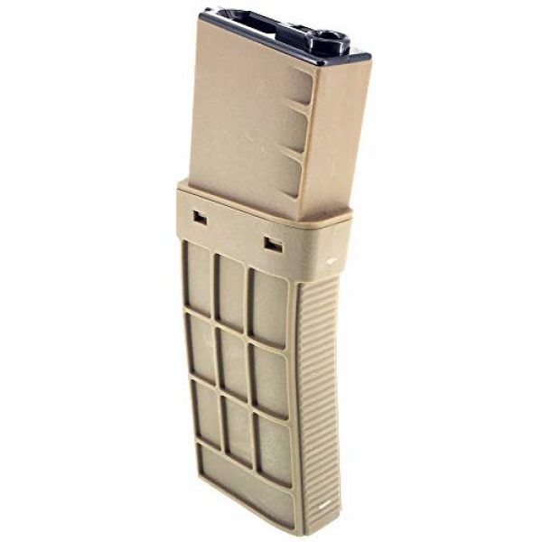 SportPro Airsoft Gun Magazine 2 SportPro CYMA 450 Round Polymer Thermold Waffle High Capacity Magazine for AEG M4 M16 Airsoft - Tan