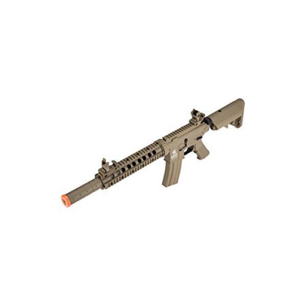 Lancer Tactical Airsoft Rifle 6 Lancer Tactical M4 Gen 2 AEG Electric Airsoft Rifle Gun - Tan