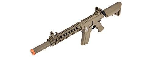 Lancer Tactical  6 Lancer Tactical M4 Gen 2 AEG Electric Airsoft Rifle Gun - Tan