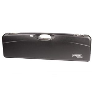 Negrini Cases Rifle Case 1 Negrini Cases 1657LR/5163 Luxury Shotgun Case for High Rib/1 Gun/1 Barrel up to 36-Inch/ABS/Barrel Vertical with Forend Off, Blue/Blue