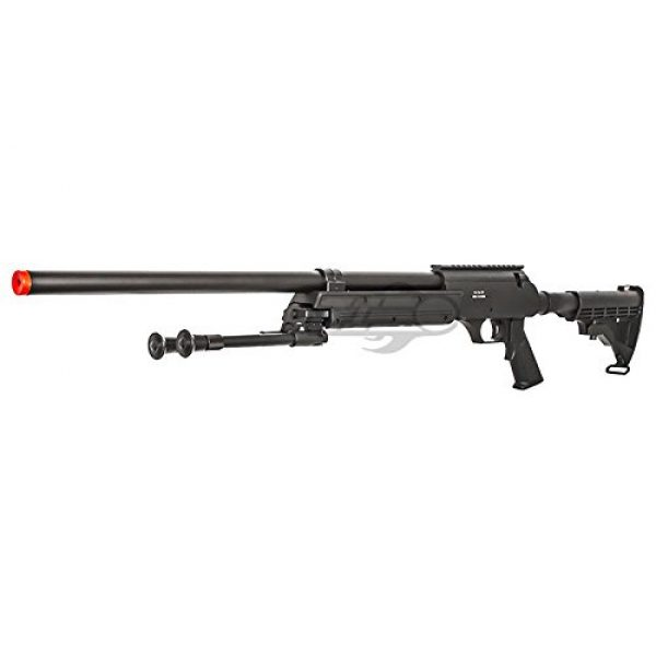 Well Airsoft Rifle 3 Well Full Metal ASR MB06 SR-2 Bolt Action Sniper Rifle Airsoft Gun (Black/ Bipod Package)