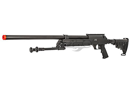 Well  3 Well Full Metal ASR MB06 SR-2 Bolt Action Sniper Rifle Airsoft Gun (Black/ Bipod Package)