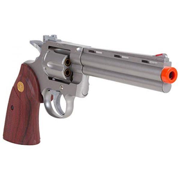 "TSD Airsoft Pistol 4 TSD PY-4480-8739 Zombie Killer .357 6"" Replica Spring Airsoft Revolver BB Gun, Silver, 6-Inch"