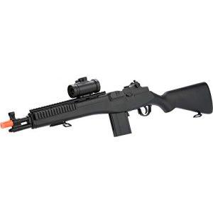 Evike Airsoft Rifle 1 Double Eagle M14 Socom RIS Carbine Spring Airsoft Gun (Black)