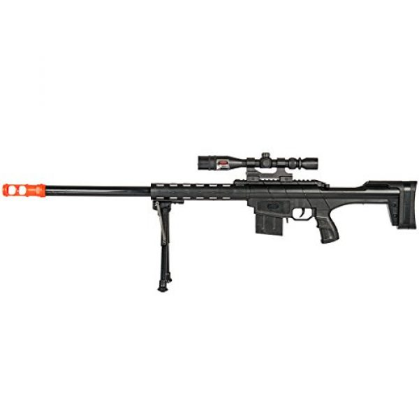 BBTac Airsoft Rifle 2 BBTac Airsoft Sniper Rifle Gun - Powerful Spring Loaded Shoots 6mm BBS Easy to use, Great for Starter Pack Game Play