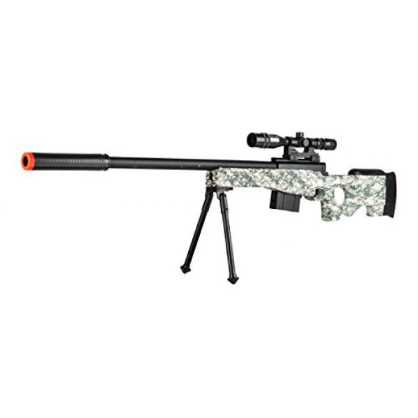 UKARMS Airsoft Rifle 1 300 FPS - L96 Airsoft Gun Sniper Spring Powered Rifle Gun with Scope (Digital Camo)