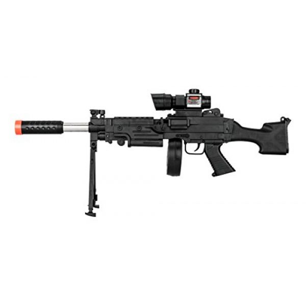UKARMS Airsoft Rifle 1 UKARMS Tactical LMG Spring Airsoft Rifle Gun FPS 300