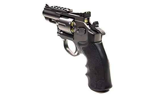 Black Ops Air Pistol 6 Black Ops Exterminator 2.5 Inch Revolver - Gun Metal Finish - Full Metal CO2 BB/Pellet Gun - Shoot .177 BBs or Pellets