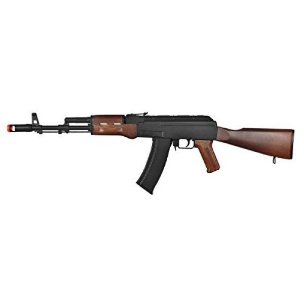 Well Airsoft Rifle 1 Well AK-47 AEG Semi/Full Auto Electric Airsoft Rifle Gun High Capacity Magazine FPS 290 (Black/Wood)