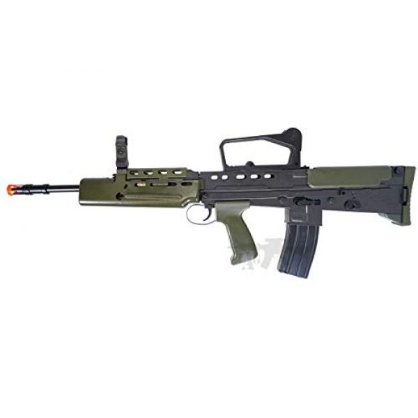HFC Airsoft Rifle 4 HFC Airsoft Spring Tactical Rifle British Army SA80 Full Size 320FPS Bolt Action with Rail
