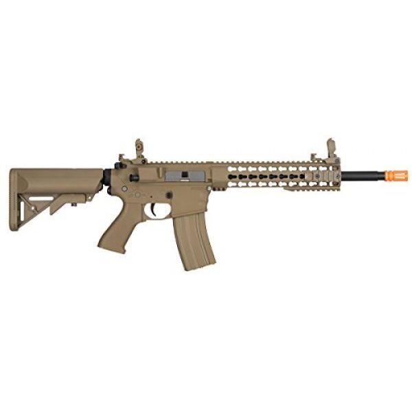 Lancer Tactical Airsoft Rifle 2 Lancer Tactical GEN 2 M4 Custom Body AEG Metal Gear Electric Airsoft Rifle - TAN