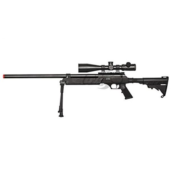 Well Airsoft Rifle 2 Well Full Metal ASR MB06 SR-2 Bolt Action Sniper Rifle Airsoft Gun (Black/ Bipod Package)