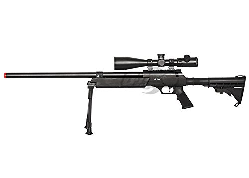 Well  2 Well Full Metal ASR MB06 SR-2 Bolt Action Sniper Rifle Airsoft Gun (Black/ Bipod Package)
