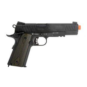 Colt Airsoft Pistol 1 Colt 1911 CO2 Full Metal Airsoft Pistol with Adjustable Hop-Up and Blowback, 380-390 FPS, Black