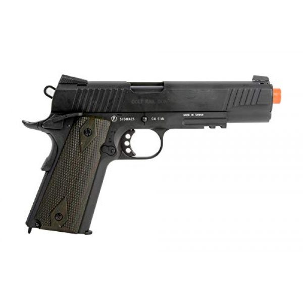 Colt Airsoft Pistol 1 Colt 1911 CO2 Full Metal Airsoft Pistol with Adjustable Hop-Up and Blowback, 380-390 FPS, Black