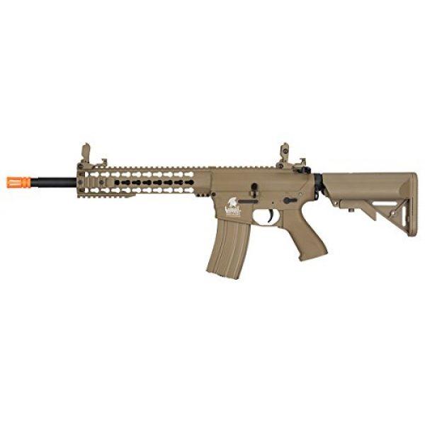Lancer Tactical Airsoft Rifle 1 Lancer Tactical GEN 2 M4 Custom Body AEG Metal Gear Electric Airsoft Rifle - TAN