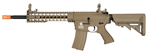 Lancer Tactical  1 Lancer Tactical GEN 2 M4 Custom Body AEG Metal Gear Electric Airsoft Rifle - TAN
