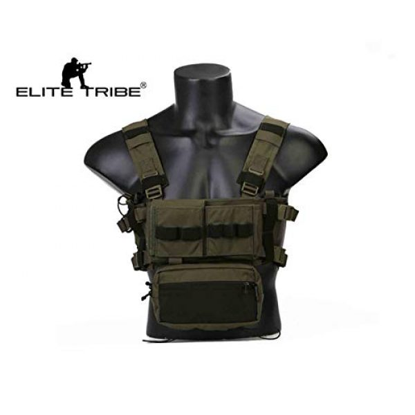Elite Tribe Airsoft Tactical Vest 2 Elite Tribe MK3 Modular Lightweight Chest Rig Micro Fight Chissis 5.56 Mag Pouch