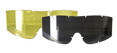 Lancer Tactical Airsoft Goggle 1 Lancer Tactical Additional Goggle Lens in Smoked and Yellow Colors CA-221 CA-223 Series Goggles