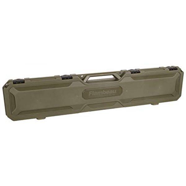 "Flambeau Outdoors Rifle Case 2 Flambeau Outdoors 6464FS Safe Shot 50.5"" Field Gun Case, Portable Firearm Storage Accessory"