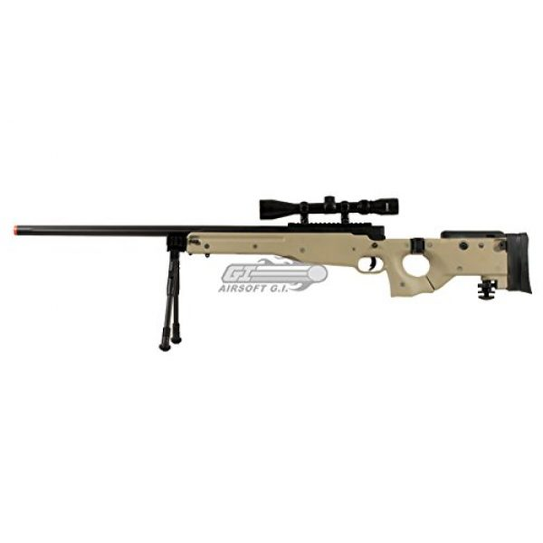 Well Airsoft Rifle 2 Well Full Metal MB08 Bolt Action Sniper Rifle (Tan/Scope Package)