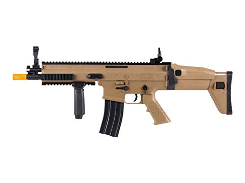FN Airsoft Rifle 3 FN Scar-L Spring Powered Airsoft Rifle, Tan, 300 FPS