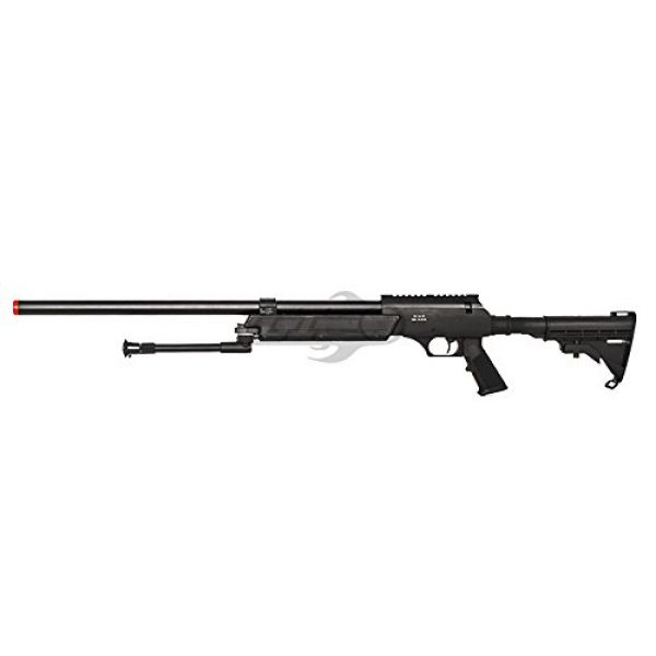 Well Airsoft Rifle 4 Well Full Metal ASR MB06 SR-2 Bolt Action Sniper Rifle Airsoft Gun (Black/ Bipod Package)