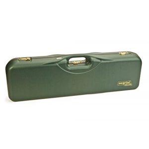 Negrini Cases Airsoft Gun Case 1 Negrini Cases 1646LR-3C/4733 Shotgun Case for O/U ABS/1 Gun/3 Barrels to 34 5/8-Inch/Med-Rib, Green/Brown