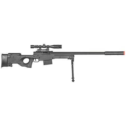 BBTac  2 BBTac Airsoft Sniper Rifle Gun - Powerful Spring Loaded Easy to use