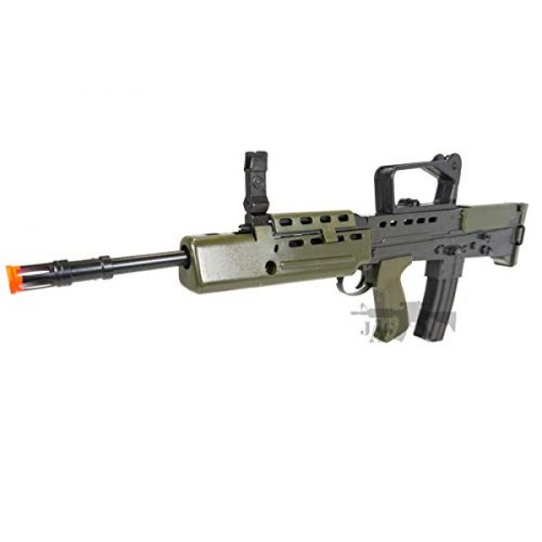 HFC Airsoft Rifle 3 HFC Airsoft Spring Tactical Rifle British Army SA80 Full Size 320FPS Bolt Action with Rail
