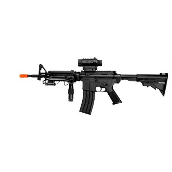 Well Airsoft Rifle 1 Well d92h m4a1 RIS Electric Airsoft Gun Full auto fps-200, Loaded w/Tactical Accessories(Airsoft Gun)