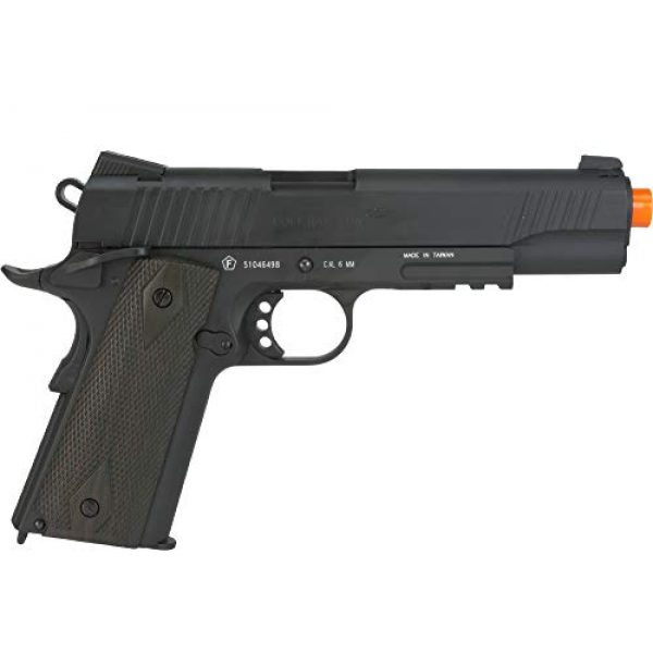 Colt Airsoft Pistol 3 Colt 1911 CO2 Full Metal Airsoft Pistol with Adjustable Hop-Up and Blowback, 380-390 FPS, Black